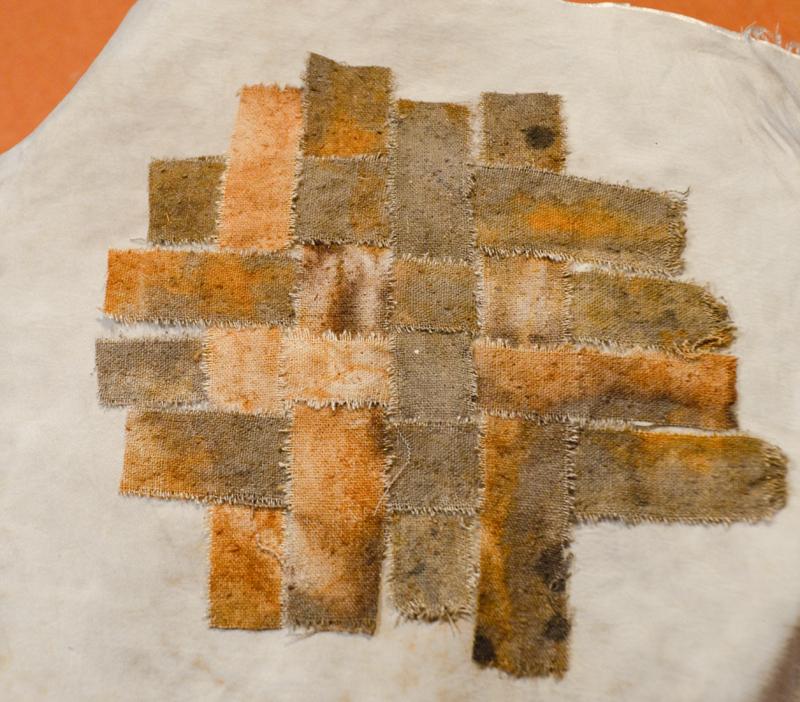 Woven rust fabric